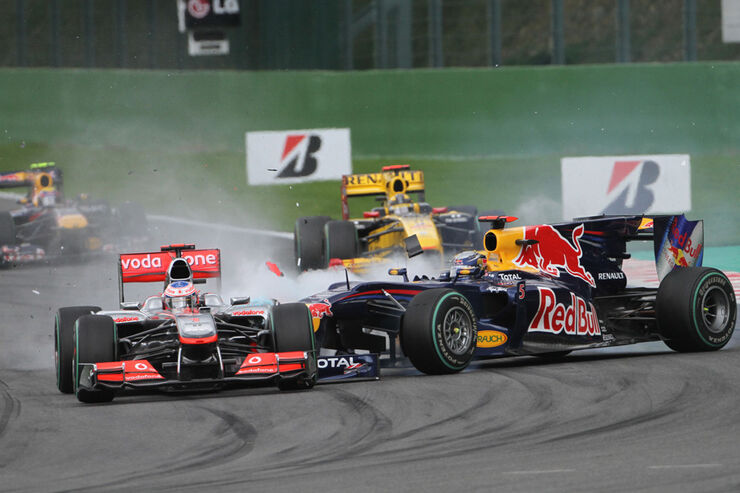 Button vs. Vettel