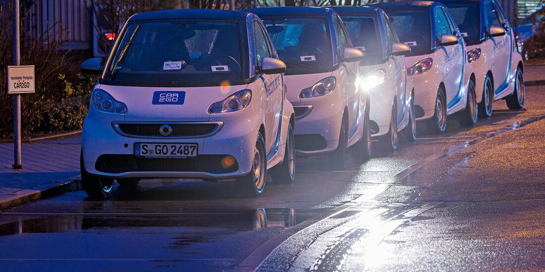 Car2go-Auto, Impression, Tagesablauf