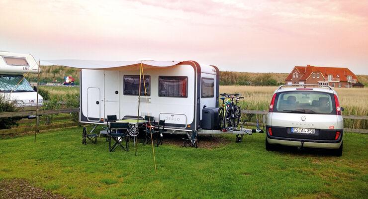 Caravan-Einsteiger, Camping