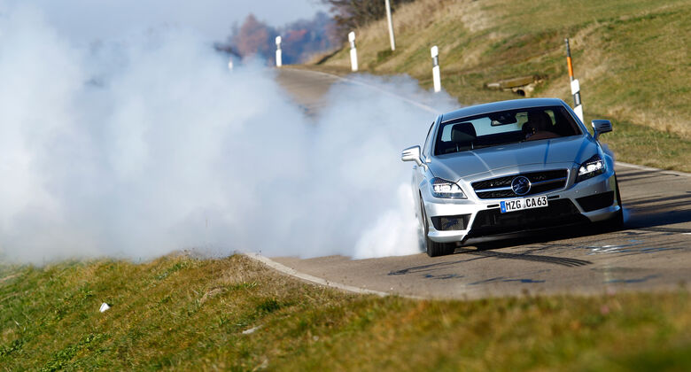 Carlsson CK63 RS, Frontansicht, Burnout