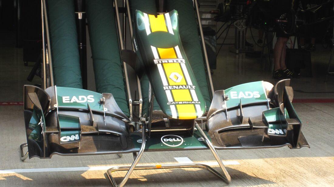 Caterham Nase  - Formel 1 - GP Indien - 25. Oktober 2012