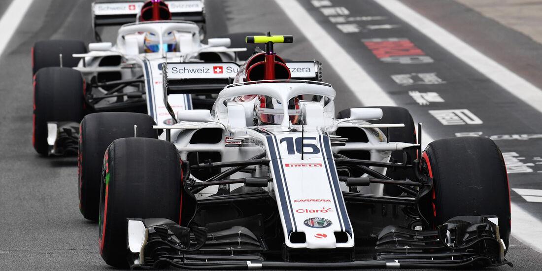 Charles Leclerc - Marcus Ericsson - Sauber - GP Brasilien 2018 - Qualifying