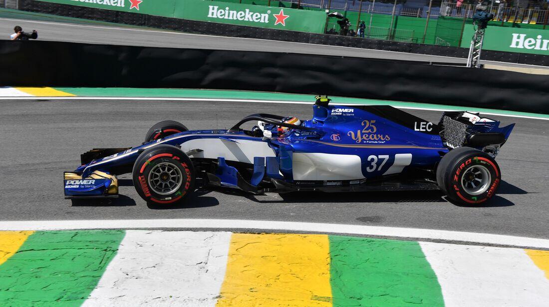 Charles Leclerc - Sauber - Formel 1 - GP Brasilien - 10. November 2017
