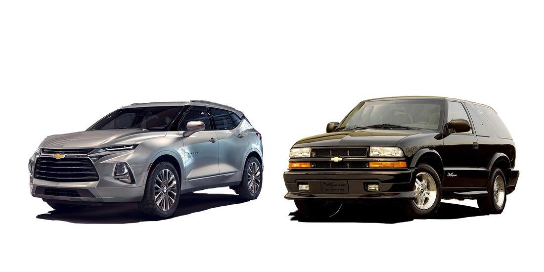 Chevrolet Blazer 2019, neu gegen alt, 2019, 2005