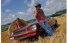 Chevrolet Camaro, Seitenansicht, Strohballen