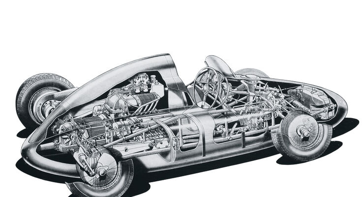Cisitalia Grand Prix-Monoposto Skizze