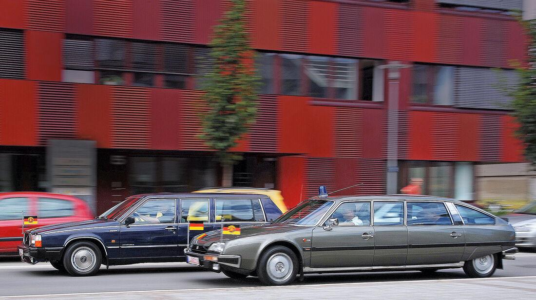 Citroën CX Prestige, Volvo 760 GLE, Seitenansicht