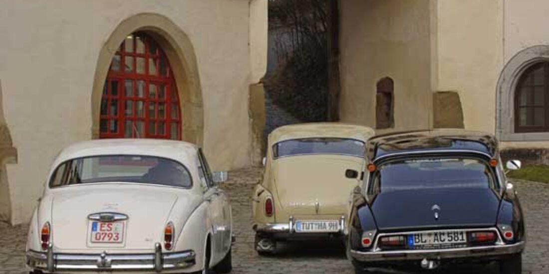 Citroën D Super, Jaguar MK II 3.4, Volvo PV 544