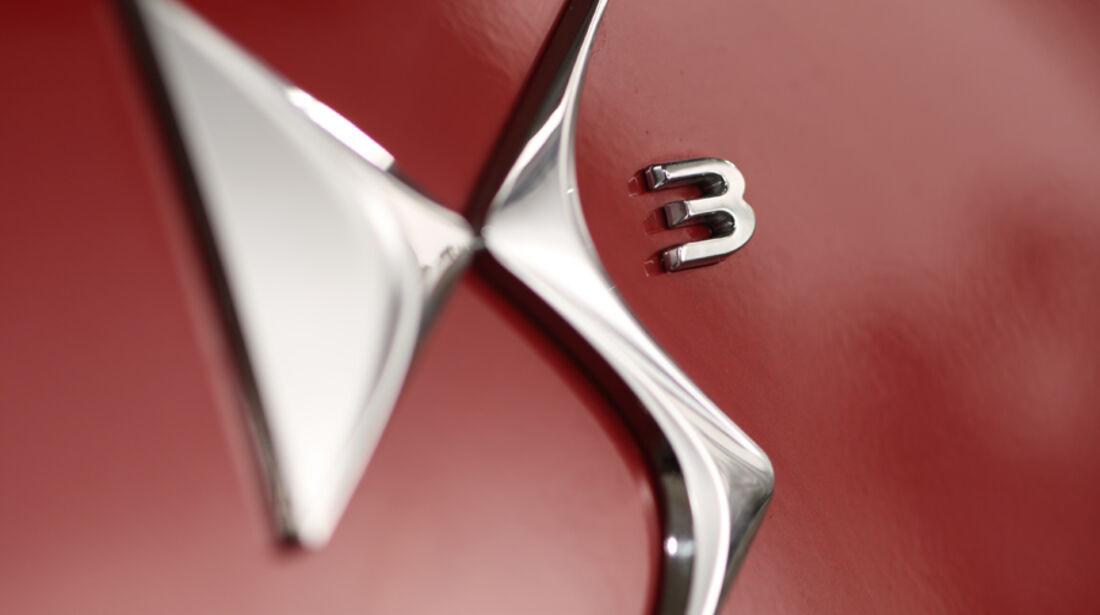Citroën DS3 THP 155 Sport Chic, Emblem, Typenbezeichnung