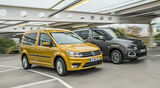 Citroen Berlingo PureTech 110 Shine, VW Caddy 1.0 TSI Trendline, Exterieur