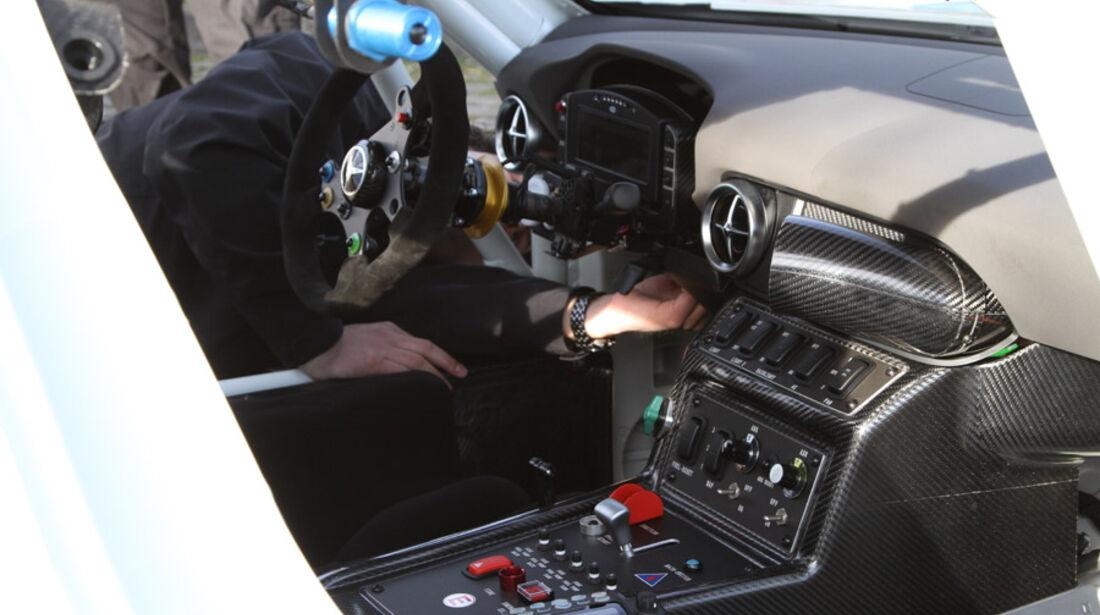 Cockpit Mercedes SLS AMG GT3, Rennwagen, Nürburgring