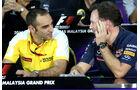 Cyril Abiteboul & Christian Horner - Formel 1 - GP Malaysia - 28. März 2015