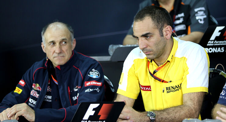 Cyril Abiteboul & Franz Tost - GP Malaysia 2015