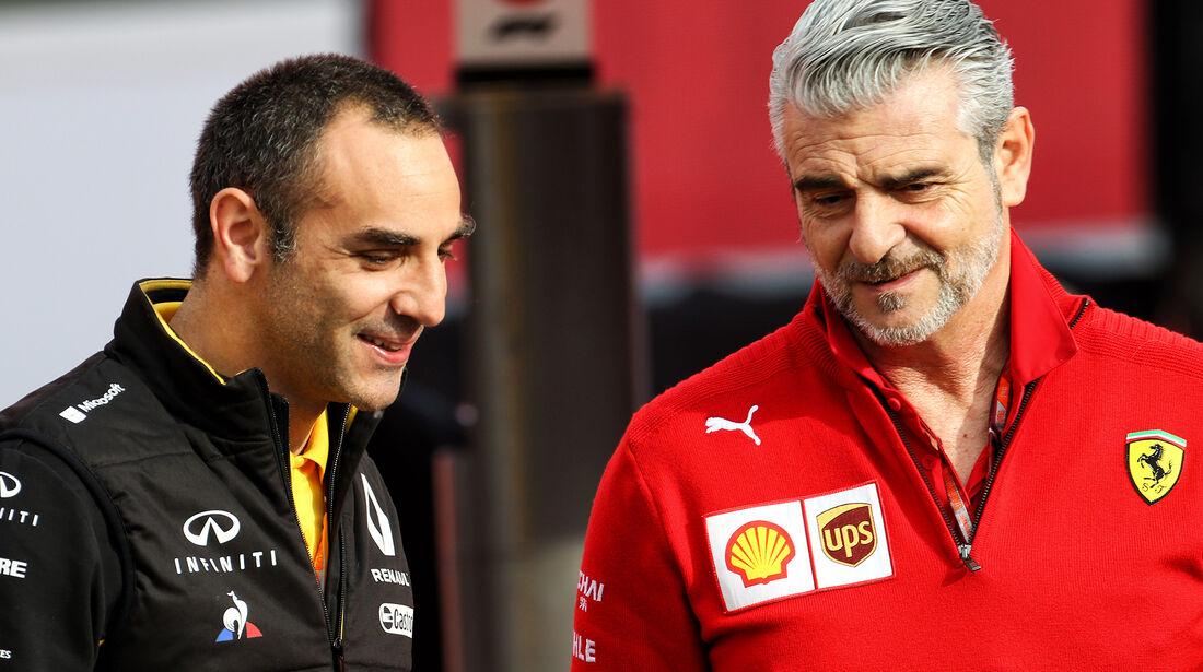 Cyril Abiteboul & Maurizio Arrivabene - Formel 1 - GP Spanien - Barcelona - 11. Mai 2018