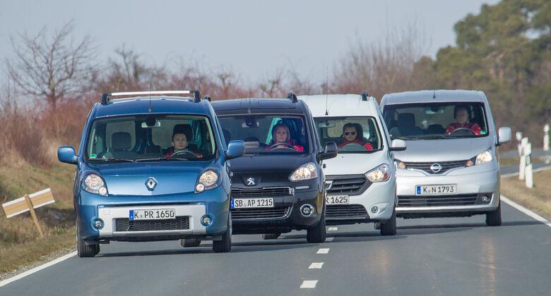 Dacia Dokker, Nissan Evalia, Peugeot Partner, Renault Kangoo