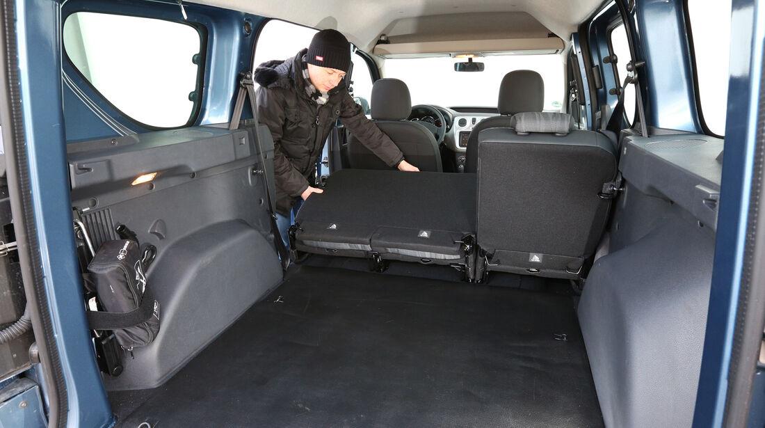 Dacia Dokker dCi 90, Kofferraum, Ladefläche