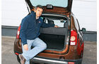 Dacia Duster dci 110 4X4, Peter Wolkenstein, Heckklappe