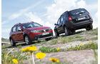 Dacia Sandero Stepway DCi 90, Dacia Duster DCi 90 4x2, beide Fahrzeuge