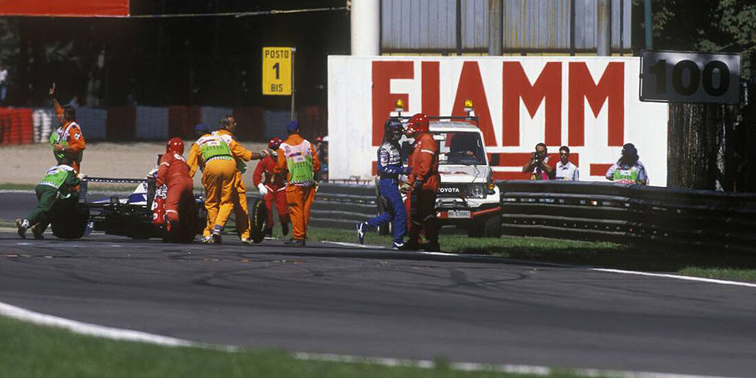 Damon Hill Unfall Monza