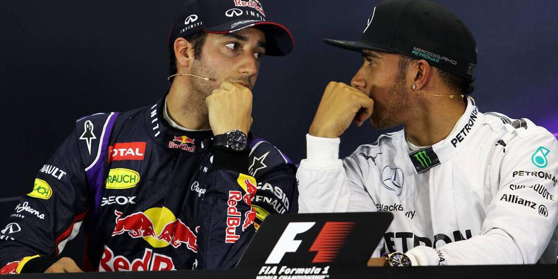 Daniel Ricciardo - Lewis Hamilton  - Formel 1 - GP Australien - 15. März 2014