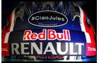 Daniil Kvyat - Jules Bianchi-Aufkleber - GP Ungarn 2015