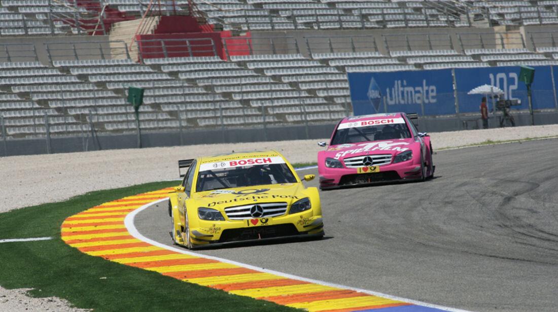 David Coulthard vor Susie Stoddart - DTM Valencia 2010