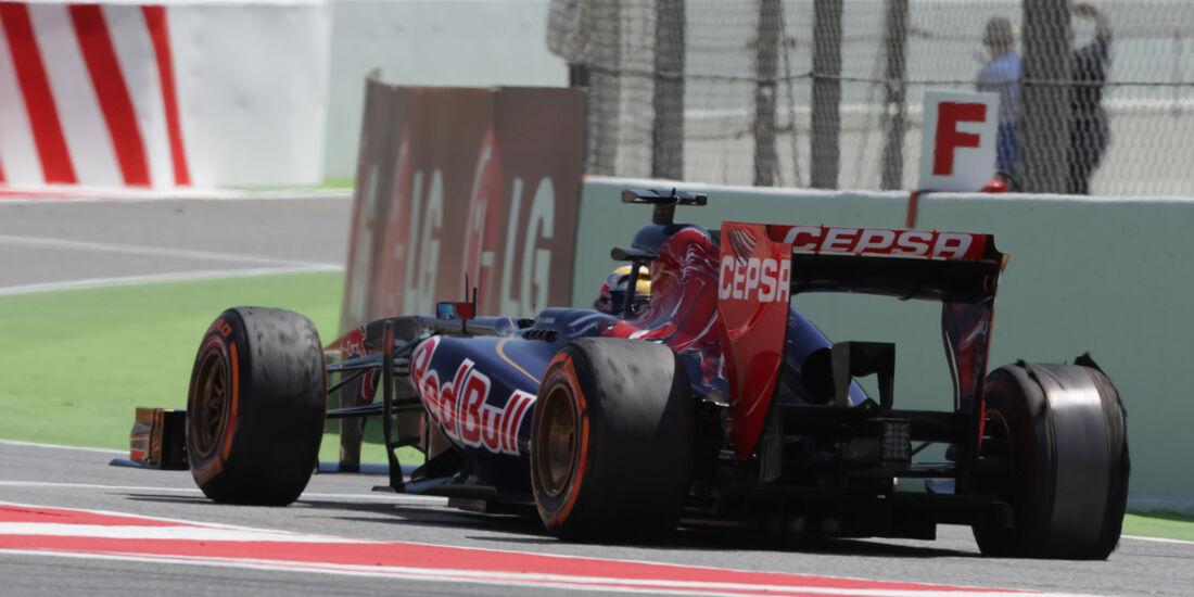 Delaminierung Jean-Eric Vergne GP Spanien 2013