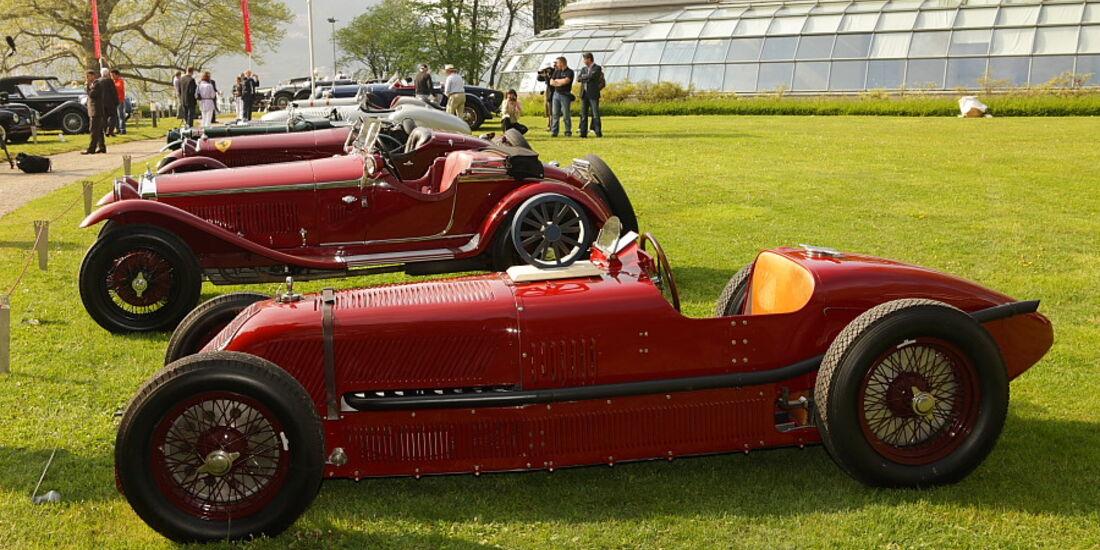 Der Trofeo Foglizzo Gewinnerwagen Talbot-Darracq (1926) bei der Villa Erba Villa d'Este 2010.