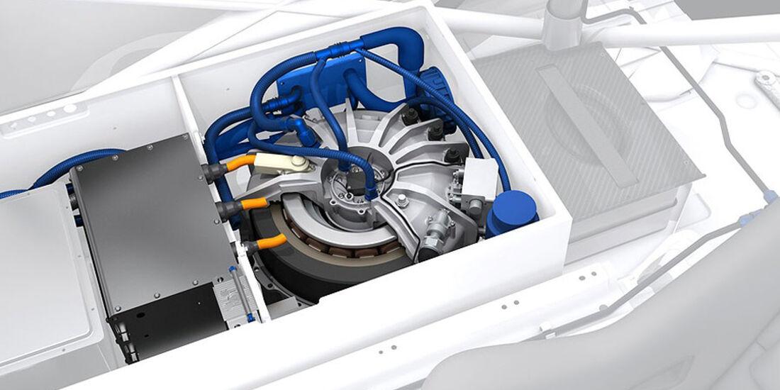 Detail, Technik, Schwungradspeicher, Porsche 911 GT3 R Hybrid