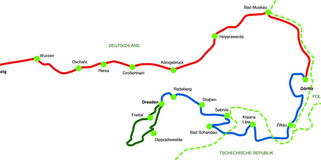 Die Strecke der Sachsen Classic 2011