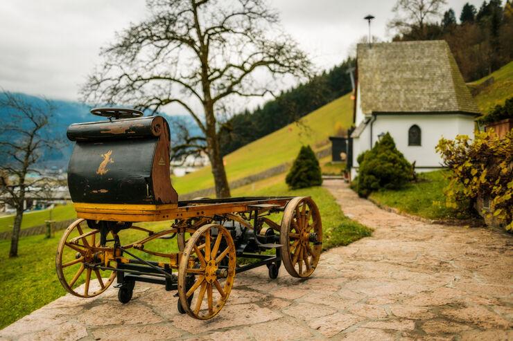 Egger-Lohner-Elektromobil, Porsche P1, Heckansicht