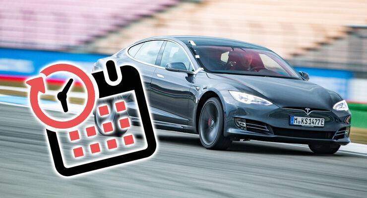 Elektroautos LIeferzeiten Tesla Model S Kalender Icon