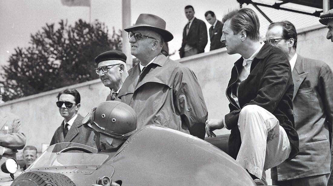Enzo Ferrari - Wolfgang Graf Berghe von Trips