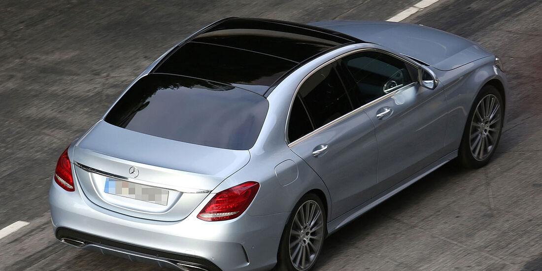 Erlkönig Mercedes C-Klasse ungetarnt