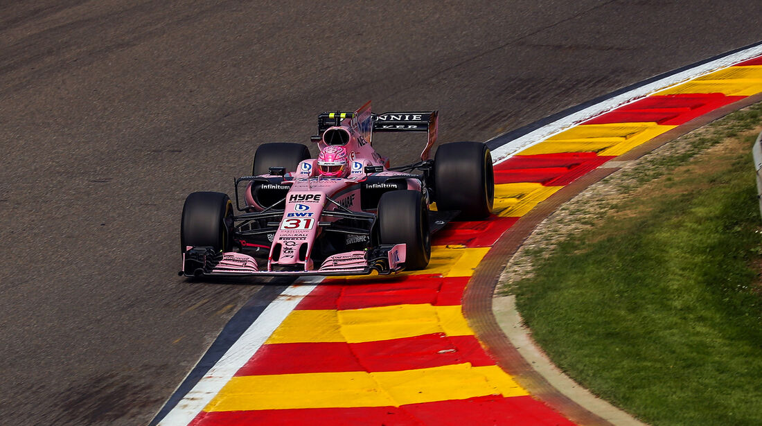 Esteban Ocon - Force India - GP Belgien - Spa-Francorchamps - Formel 1 - 25. August 2017