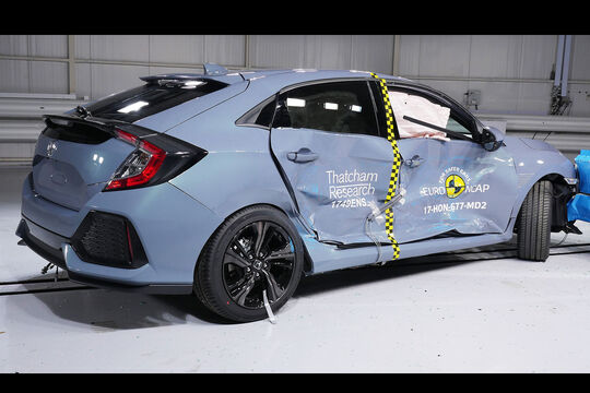 EuroNCAP Crashtest Honda Civic