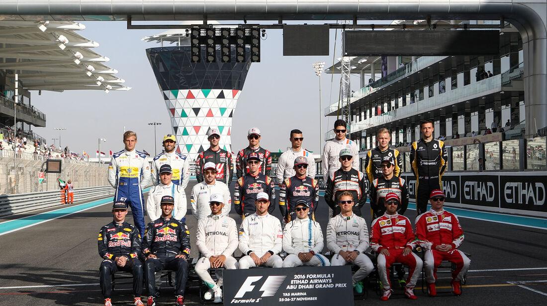 F1 Gruppenfoto - Formel 1 - GP Abu Dhabi 2016