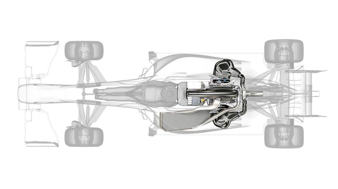F1 Motor 2014 Renault Zeichnung