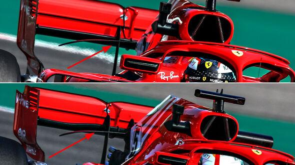 F1-Technik - Ferrari-Heckflügel - GP Deutschland 2018