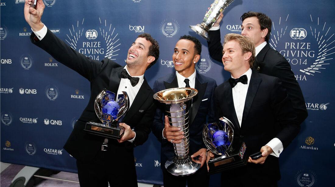 FIA Gala - Formel 1- Ricciardo - Hamilton - Rosberg - Wolff