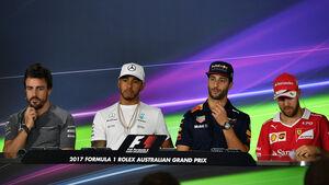 FIA-Pressekonferenz - Donnerstag - GP Australien 2017