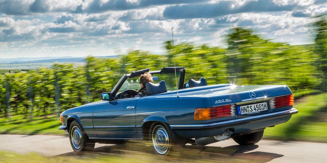 Fahrbericht-Chevrolet-Camaro-Convertible-Mercedes-450-SL-Morgan-Plus-8