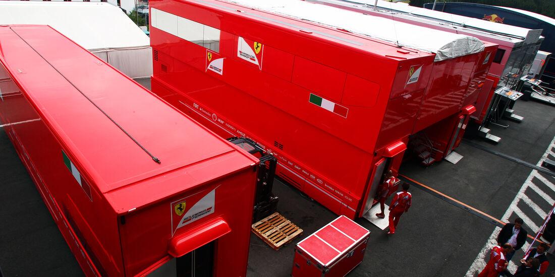 Fahrerlager - Formel 1 - GP Belgien - Spa - 30.8.2012