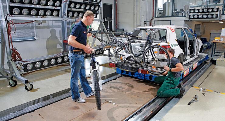 Fahrradträger, Crashtest