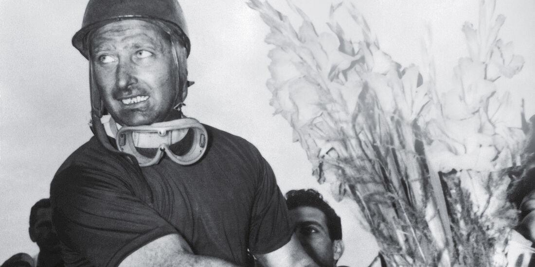 Fangio, Blumenstrauß, Monza