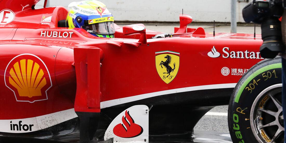Felipe Massa, Ferrari, Formel 1-Test, Barcelona, 22. Februar 2013