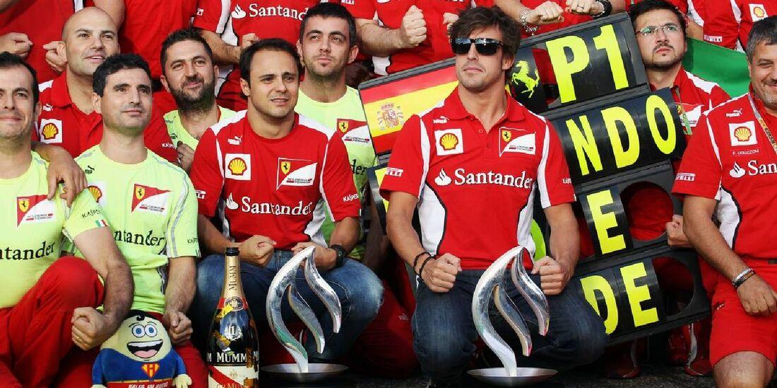 Fernando Alonso Felipe Massa - Formel 1 - GP Deutschland - 22. Juli 2012