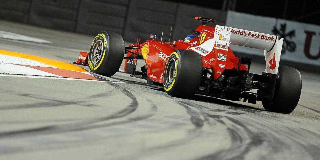 Fernando Alonso - Ferrari - Formel 1 - GP Singapur - 22. September 2012