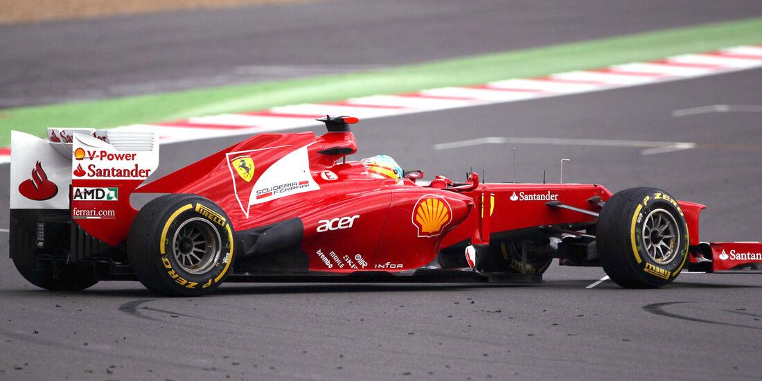 Fernando Alonso Ferrari GP England 2012