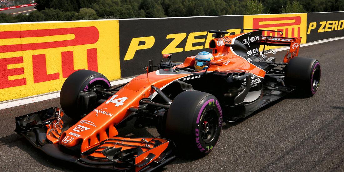 Fernando Alonso - McLaren - Formel 1 - GP Belgien - Spa-Francorchamps - 26. August 2017